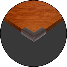 Safe-O-Kid High Density L-Shaped Small Size NBR Corner Cushions (Pack of 16, Dark Brown)