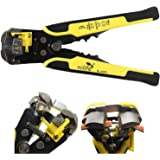 EzLife 8-Inch Self-Adjusting Automatic Cable Cutter Crimper, 5 in 1 Multipurpose Tool Wire Stripping Cutting Pliers, 10-24 AW