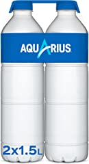 Aquarius Limón - Bebida funcional con sales minerales, baja en calorías - Pack de 2 botellas 1.5L