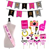 Party Propz 18Pcs Bride to be Props+ 1 Banner+ 1 Sash / Bride to Be Sash and Props / Bride to Be Props / Bride to Be Accessor