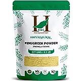 H&C Herbal Ingredients Expert 100% Natural Fenugreek (Trigonella Foenum) Powder - 227g / 0.5 LB / 08 oz - For Hair Care | Hai