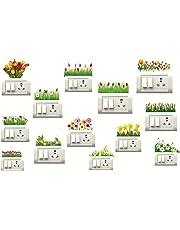 Decorvilla PVC Vinyl Film Switch Board Wall Sticker (Standard, Multicolor, 13 Piece)
