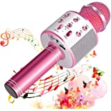 SunTop Microfono Karaoke Bluetooth, Bluetooth Altoparlante, Microfono Wireless, Bluetooth Karaoke Player, AUX wireless Karaok