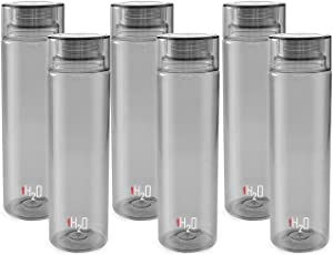 Cello H2O Fridge Bottle,1000ml, set of 6 Grey