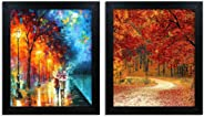 Home Attire HAP-1121 Modern Abstract Paintings-Set of 2 (12x14inch)