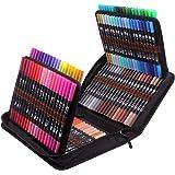 120 stylos de feutre coloriage à double pointe fine et pinceau pour aquarelle, feutres à pointe fine, marqueurs à base d'eau,