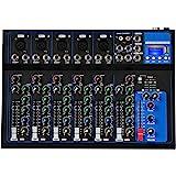 Depusheng 7 canali USB Microfono digitale Console mixer audio 48V Phantom Power Amplificatore mixer audio professionale per k