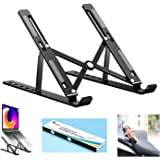 Proffisy Laptop Stand Adjustable Computer Stand Ergonomic Portable Tablet Stand Foldable Desktop Holder Compatible with MacBo
