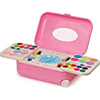 Zest 4 Toyz 2 in 1 Cosmetic Makeup Palette and Nail Art Kit for Kids with Portable Trolly Bag | Pretend Play Toy for…