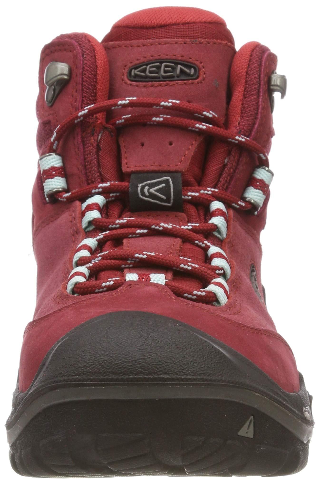 KEEN Women's Wanderer Waterproof Mid High Rise Hiking Shoes, 8.5 UK 4