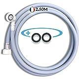 BYMEO, Tuyau Machine à Laver 2.50ML / Tuyau d'Arrivée d'Eau Pour Lave Vaisselle/Lave Linge, Ce Flexible d'Alimentation Univer
