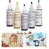 Essort Tie-Dye Kit Tinte para Ropa 5 Colores Juego de Teñido Anudado para Niño, Tela Pinturas, Actividades del Campus, Enviar