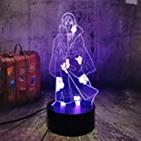 3D Illusion Lamp Itachi Uchiha Figure Touch Sensor Nightlight for Kids Bedroom Decor Boys Bedside Remote Table Lamp Cool Toys