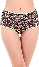 Clovia Cotton High Waist Floral Print Hipster Panty