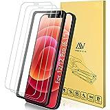 """ANEWSIR 3 Pezzi, Vetro Temperato Compatibile con iPhone 12/12 PRO (6.1""""), Pellicola Prottetiva Anti Graffio, Anti-Impronte, D"""