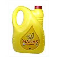 Manas Mustard Oil 5 L (Home Pantry Groceries Items Kitchen and Home Healthy Cooking Oil Edible Oil Natural Extracts)