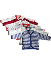 NammaBaby Cotton Front Open Full Sleeves Vest Tees (Pack of 6)