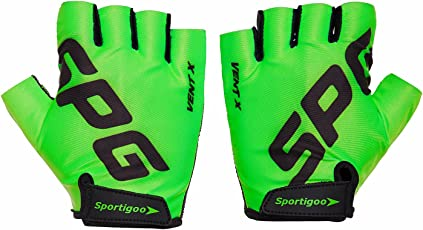 Sportigoo SPG Cycling Gloves - Green/Black