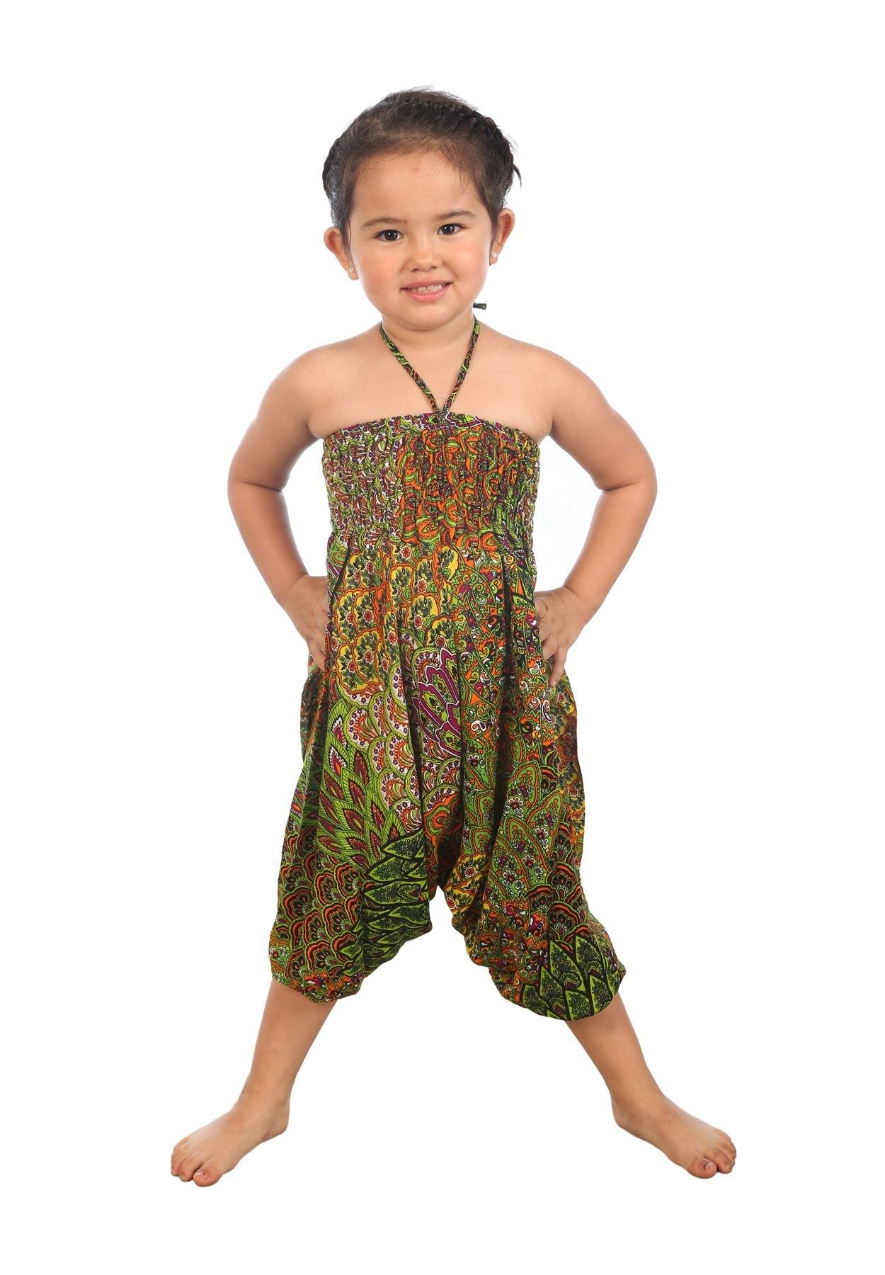 Lofbaz Niño Niña Bebé Harem Pantalones Aladdin Verano Mono 3