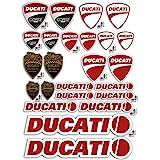 GamesMonkey Stickers Pegatinas Set Ducati Corse Logo Panel Entero 24pz Oferta Motor Casco Moto …