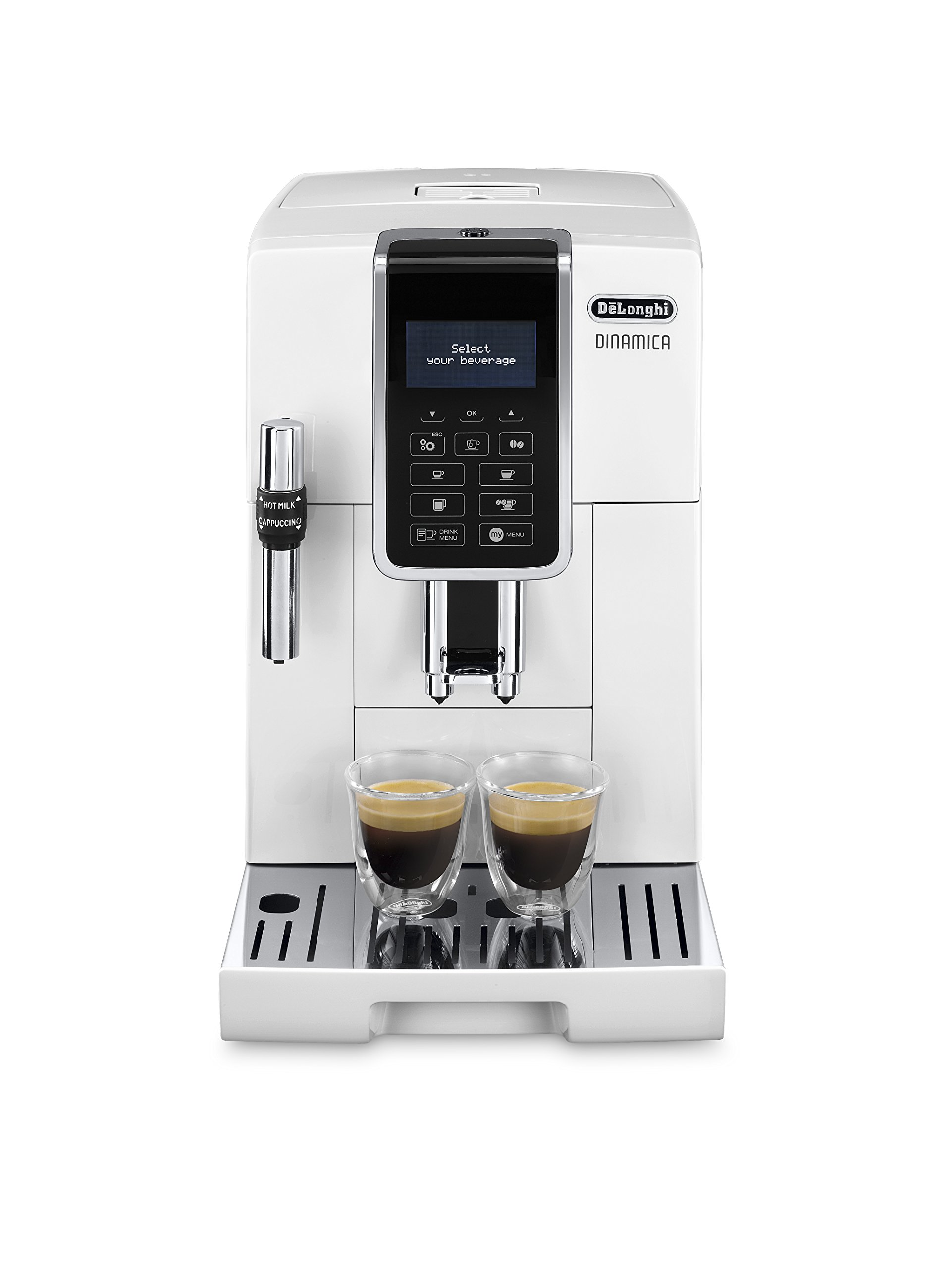 DeLonghi-Dinamica-ECAM-35035W-Bean-to-Cup-White
