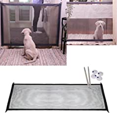 Enjocho Pet Isolation Net,Magic Gate Portable Folding Safety Guard for Pets Dog Cat Isolated Gauze 2018 Hot (Black)