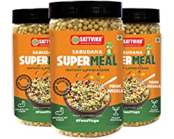 Sattviko Sabudana Supermeal Magic Masala, Instant Foods, Ready to Eat Food Products, Healthy Breakfast Meal for Adults, Foody
