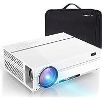 TOPVISION Heimkino Beamer mit Tragetasche,7200 Lumen Video Beamer with 80.000 Stunden Verlängert,Native 1080P LCD Beamer…