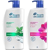 Head & Shoulders Anti Dandruff Shampoo, Cool Menthol , 1 L and Head & Shoulders Smooth and Silky Anti Dandruff Shampoo…