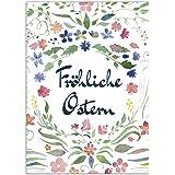 15 x Postkarten zu Ostern mit Umschlägen im Set / Osterkarten modern Fröhliche Ostern Aquarell / Osterpostkarten