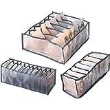 Ossky 3 Pièces sous-vêtements Tiroir Organisateur, Soutien-Gorge Tiroir Organisateur Stockage Pliable, Boîte de Rangement Lav