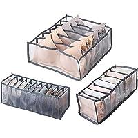 Ossky 3 Pièces sous-vêtements Tiroir Organisateur, Soutien-Gorge Tiroir Organisateur Stockage Pliable, Boîte de…
