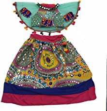 Aglare Girl's Cotton Lehenga Choli