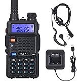 eSynic UV-5R Walkie Talkie 128 Canales VOX 400MHz-480MHz VHF/UHF Banda Dual con Pantalla LED de Memoria con Explosión Parpade
