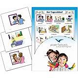 Yo-Yee Flashcards Kartki graficzne do lekcji DAZ / DAF – przebieg dnia – dalszy skarb podstawowy, budowanie zdań i gramatyka
