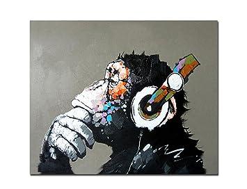 Fokenzary Dipinta A Mano Pittura A Olio Su Tela Pop Art Cool Ape ...