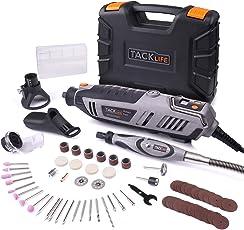 Tacklife RTD37AC Multifunktionswerkzeug 200 Watt mit 66-tlg. Zubehör-Set, Biegsame Welle, große Leistung ideal für Heimwerkerarbeiten (inkl. Werkzeugkoffer, Leerlaufdrehzahl: 10000-40000 U/min)