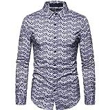 Jmsc Mens Shirts Long Sleeve Casual Slim fit Funky Printed Shirt Fancy Digital Printed Tops Unique Pattern Fashionable Shirts