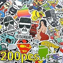 200 pedazos de la etiqueta engomada ¡Porción de alta calidad del equipaje de la mezcla! 200pcs para patineta, snowboard, macbook, stickersset Vinilo adhesivo de alta calidad - King Mungo - KMST004
