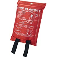 1m x 1m Quick Release Safety Fire Blanket In Case, Ideal for Home/Office by Sentik
