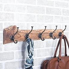 Casa D??cor Hardwood Textured Wooden Rack, 24.4-inch, Brown