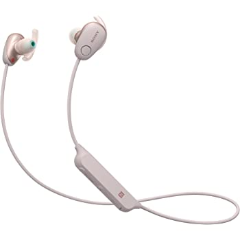 Sony WI-SP600NP Cuffie Wireless Sport Intrauricolari, Noise-Cancelling, Water-Proof IPX4, Rosa