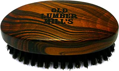 Old Lumber Mill's Beard Brush   Bartbürste aus Naturholz   100% Wildschweinborsten   In Form einer Military Brush