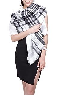 89e905dc56e écharpe hiver femme foulard grande taille châle cache-col réversible franges  quadrillé - plusieurs couleurs
