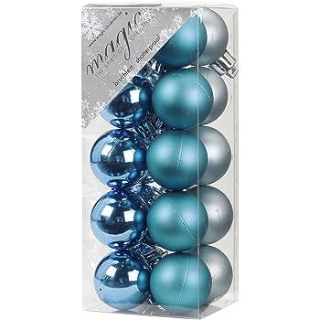 Plastik Christbaumkugeln.Christbaumschmuck 12 Weihnachtskugeln 4cm Kunststoff
