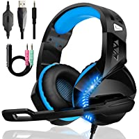 Cuffie Gaming per PS4 PS5 Xbox One, Upgraded Bassi Stereo Cuffie Over Ear con Microfono Condensatore Riduzione Del…