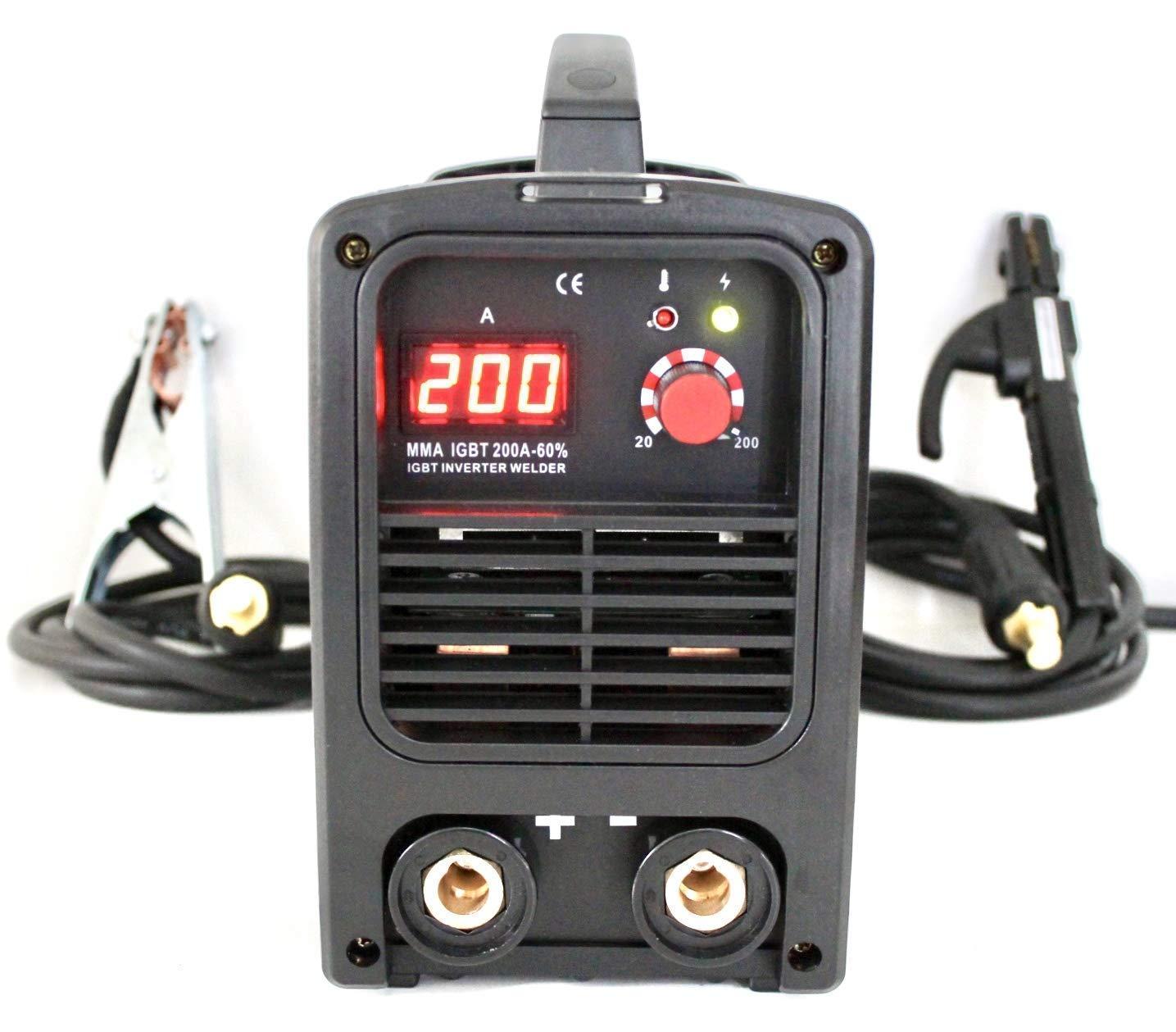 HERPRO Soldador Inverter Profesional IGBT 200 Amperios para soldadura por
