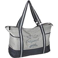 J JONES JENNIFER JONES Großer Shopper XXL Handtasche aus Canvas Schultertasche Sporttasche Freizeittasche mit…