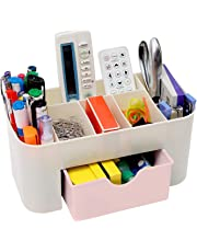 Asuvi Cosmetic Storage Box Multi Functional Desktop Tidy Organiser Holder with Drawer Random Colour