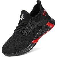 tqgold S3 Chaussures de sécurité légères, sportives, respirantes et confortables Pour homme et femme Avec coque en acier…